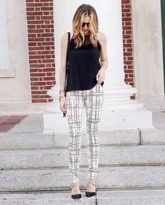 Workwear with flair. Swap out black trousers for a printed pair like…