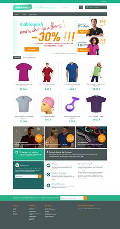 Création de l'identité graphique et du site de vente en ligne de vêtements médicaux Mablouse.fr #logo #site #webdesign #shoponline #responsive #mablouse Identity, Web Design, Logo, Shopping, Work Trousers, Selling Online, Work Attire, Chart, Design Web