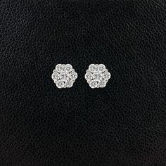 Diamond Cluster Earrings – CRAIGER DRAKE DESIGNS®