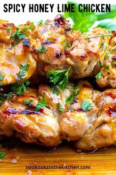 Spicy Chicken Marinades, Lime Chicken Recipes, Honey Lime Chicken, Meat Recipes, Dinner Recipes, Cooking Recipes, Healthy Recipes, Best Baked Chicken Recipe, Maple Chicken