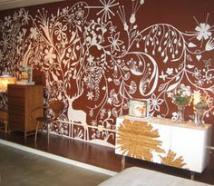 exotic wall stencils painting inspiration picture Beautiful Wall Painting Stencils to Play Up The Walls According To Your Taste Damask Wall Stencils, Stencil Painting On Walls, Stenciling, Spray Painting, Creative Wall Painting, Creative Walls, Inspiration Wand, Painting Inspiration, Tord Boontje