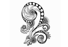 Illustration about Henna Paisley Mehndi Doodles Abstract Floral Vector Illustration Design Element. Black And White Version. Illustration of fashion, drawing, floral - 36644614 Zentangle Patterns, Zentangles, Adult Coloring Pages, Coloring Books, Free Coloring, Floral Doodle, Paisley Doodle, Doodles, Doodle Lettering