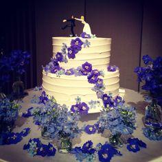 cute wedding cake!!   ウェディングケーキ ケーキトッパー