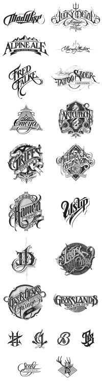 Typeverything.com - Hand drawn logos by Martin...