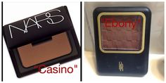 "Found a good Dupe for Nars Bronzer in ""Casino"" this one is put out by Black Radiance and the shade is ""Ebony"""