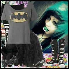 Scene/Emo Batman clothes (Outfit from Polyvore)
