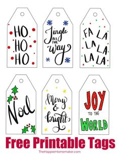 christmas gifts Put the finishing touch on your gifts this year with these cute hand-lettered free printable Christmas gift tags! Free Printable Christmas Gift Tags, Free Christmas Gifts, Free Printable Gift Tags, Holiday Gift Tags, Personalized Christmas Gifts, Christmas Gift Wrapping, Crochet Christmas, Printable Christmas Decorations, Christmas Ideas