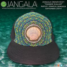 Scallop Shell Custom Hat by Jangala by jangaladesigns on Etsy