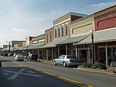Main Street - Hartselle, AL - it has been turned into an Antique Haven, nothing like it was when I lived there in the late '70's....