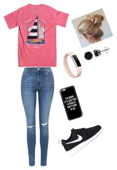"""""""Untitled #59"""" by skielerh on Polyvore featuring Topshop, NIKE, Casetify, Fitbit and BERRICLE"""
