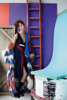 Behind The Scenes: Abstract Thinking. Vogue September Shoot inspired by Bauhaus.