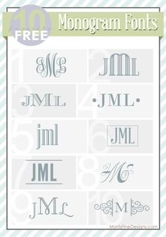 Top 10 Free Monogram Fonts | MoritzFineBlogDesigns.com