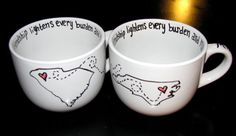 Long Distance Friendship/Love 12 oz Mug by DevineDesignsbySusan, $32.00 @Tammy Tarng Reid we should go in together and get these :O)  I love that the quote is on the brim, maybe finish it up with the a second part of the quote at the bottom… Friendship Crafts, Friendship Love, Long Distance Friendship, Sister Friends, Husband, Quote, Mugs, Sayings, Trending Outfits