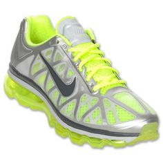 Nike Air Max+ 2011 Metallic Silver Anthracite Volt Green Yellow Neon Shoes New Neon Yellow Shoes, Neon Shoes, Nike Air Max 2011, Yoga Shoes, Nike Shoes Cheap, Cheap Nike, Everyday Shoes, Running Shoes For Men, Types Of Shoes