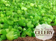 How to Freeze Celery | Pure Pearl Homestead