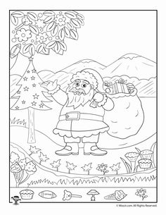 Art therapy activities for kids Santa Claus Christmas Hidden Picture Printable Page Christmas Decorations For Kids, Christmas Colors, Kids Christmas, Christmas Cookies, Christmas Crafts, Hidden Pictures Printables, Printable Pictures, Hidden Object Games, Hidden Objects