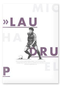 Football Legends by Lasse Betzer, via Behance