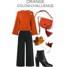 Orange & Black - FALL #fall #orange #chelseaboots