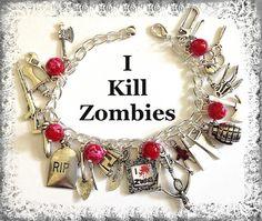 Zombie Hunter Charm Bracelet | princessofscraps - Jewelry on ArtFire