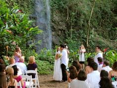Kauai Waterfall Weddings is the perfect exclusive setting for a wedding or special event on Kauai's North Shore, a spectacular and private venue. Wedding Beauty, Wedding Tips, Wedding Events, Dream Wedding, Wedding Themes, Wedding Stuff, Wedding Gowns, Kauai Wedding, Destination Wedding