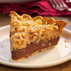 Contest-Winning German Chocolate Pie Recipe from Taste of Home -- shared Debbie Clay of Farmington, New Mexico