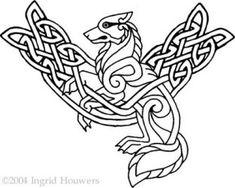 Bilderesultater for viking embroidery patterns Celtic Symbols, Celtic Art, Celtic Knots, Celtic Dragon, Celtic Patterns, Celtic Designs, Colouring Pages, Coloring Books, Tattoo Grafik