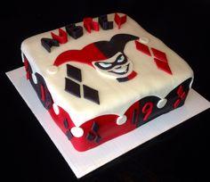 Harley Quinn cake   fondant  buttercream
