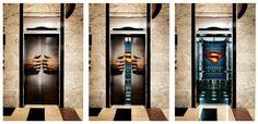 Superman elevator doors advertisement, so awesome. #SuperMan