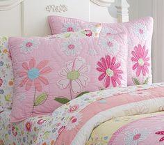 Daisy Garden Quilted Bedding #pbkids