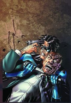 Nightwing and Two-Face by Rags Morales