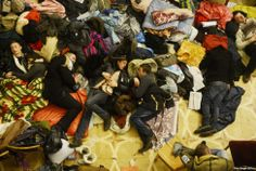 Stunning Photos Of The Ukrainian Protests - protesters having rest in the occupied buildings