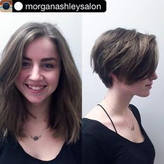 "23 Likes, 1 Comments - Hair_Shoutout (@_.hair_inspiration) on Instagram: ""#Reposting @morganashleysalon with @instagrab_pic -- Pixie cuts are such a cute and trendy way to…"""