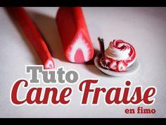 ▶ [TUTO] Cane Fraise en FIMO - YouTube