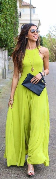 Pretty maxi dress. More fashion at www.jeannelm.com.