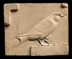 Relief plaque with a swallow. Egypt, 400–30 B.C. Swallows are associated with aspects of the soul.