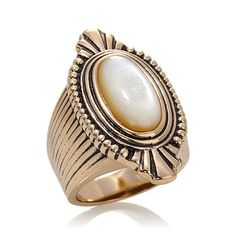 Studio Barse Bronze Mother-of-Pearl Oval Ring