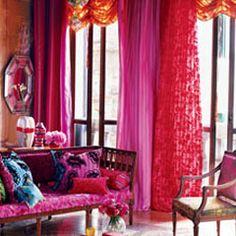 designer tricia guild, and her company designers guild, specializes in brilliantly colored textiles and furnishings Designers Guild, British Designers, Color Inspiration, Interior Inspiration, Tricia Guild, Moroccan Room, Tout Rose, Interior And Exterior, Interior Design