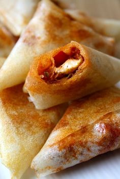 Rooster and pepper samosas / piece weight watchers Samosas, Empanadas, Ww Recipes, Indian Food Recipes, Healthy Recipes, Healthy Food, Tapas, Ramadan Recipes, Diet And Nutrition