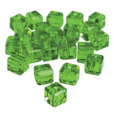 Emerald+Cube+Cut+Crystal+Beads+-+8mm+-+OrientalTrading.com