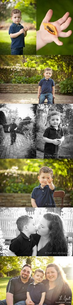 dayton ohio baby photographer | a three-year-old, his caterpillar, and his mom and dad. | © leah jent photography