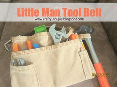 This little tool belt was so fun to make it went together really quickly and my little man was super excited and helped me a bunch.  I love...