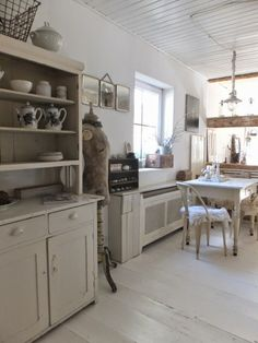cottage white kitchen