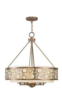 Livex Lighting 8676 Avalon 6 Light 1 Tier Chandelier Palacial Bronze Indoor Lighting Chandeliers