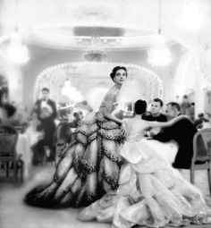 Christian Dior Gowns, photo by Nina Leen, 1950s*