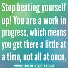 Effective change takes time. And being committed to change takes effort. Give yourself credit as it is due! (View only)
