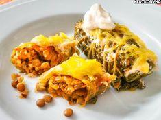 Tekercselt kelkáposzta - Kertkonyha Lasagna, Vegan Recipes, Food And Drink, Vegetarian, Lunch, Ethnic Recipes, Blog, Lasagne, Vegane Rezepte