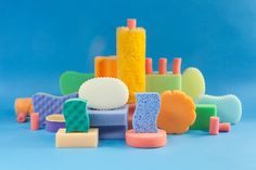This rather surreal project celebrates colourful sponges and cleaning products. The art direction is by Pablo Alfieri, and the aim of the series is to explore texture in a playful and colourful way. Clean Design, Set Design, Design Art, Design Ideas, Still Life Photography, Art Photography, Sponge Painting, Tsumtsum, 3d Drawings