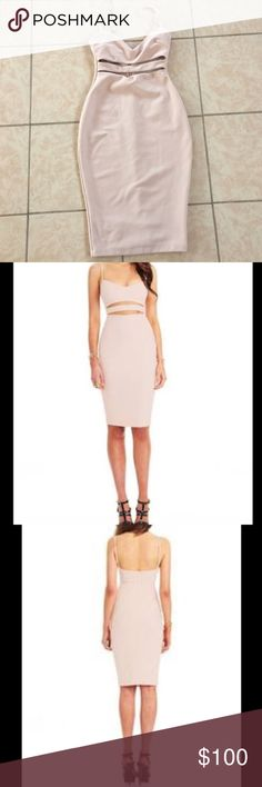Nookie nude dress size small Worn once in great condition! Nookie Dresses Midi