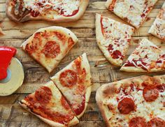 Here's my Good Eats Pizza Pizza recipe. The instructions may look tedious, but after the first time, you'll breeze through all the others. Your patience will be rewarded.
