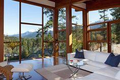 modern chalet living room - Google Search